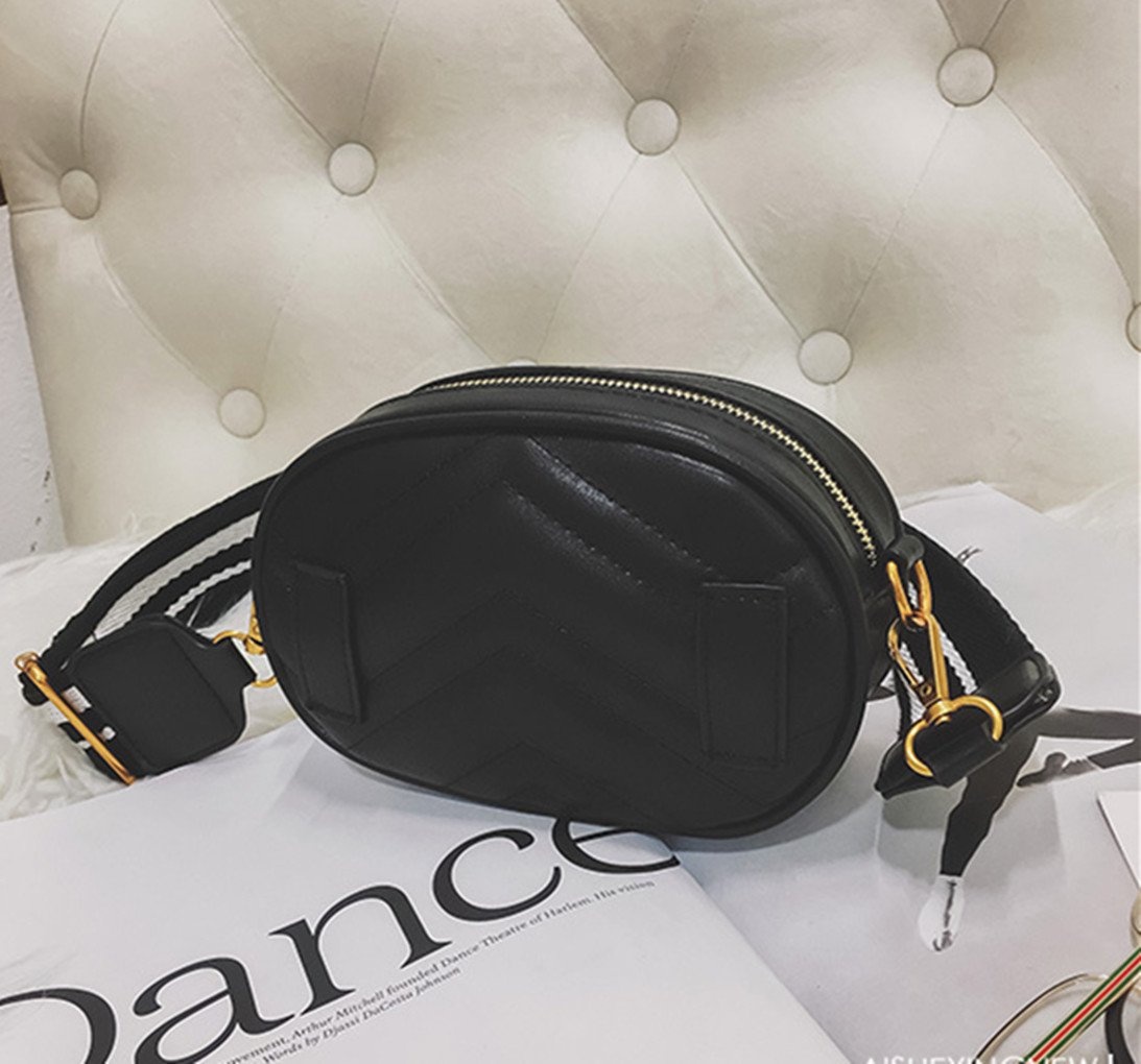 Olivia Elegant Leather Fanny Pack Embroidery Love Pattern PU Leather Waist Bag Bum Bag Travel Cell Phone Bag Pouch(Heart Black) by Olivia (Image #7)