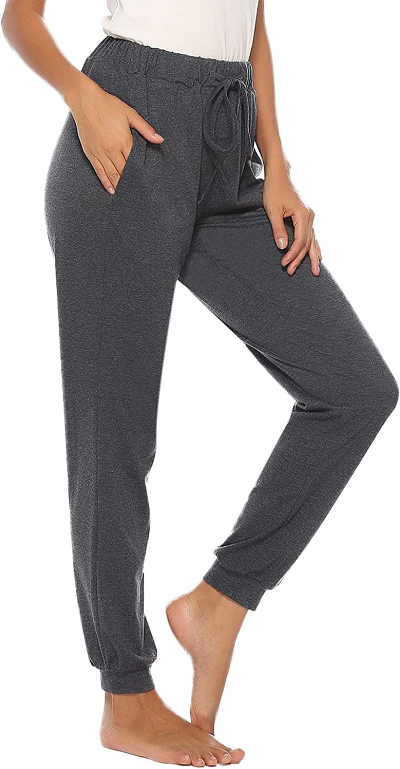 Abollria Womens Cotton Pajama Bottoms Stretch Lounge Pants with Pockets Pajama Pants