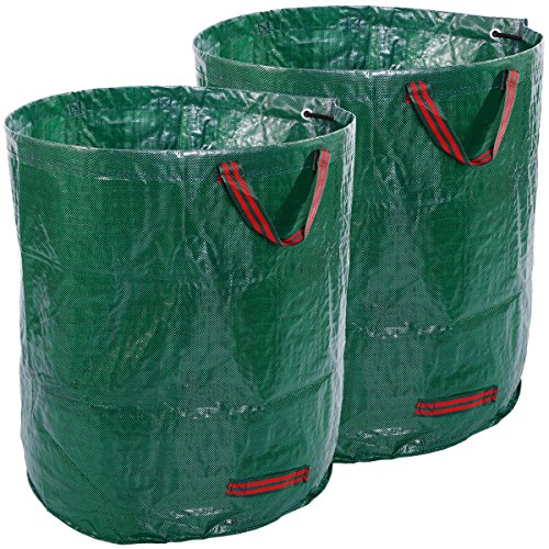 Anladia 71-134 Gallons Garden Leaf Waste Bag Heavy Duty for Reusable Gardening Yard Lawn