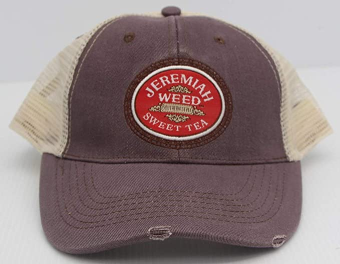 Amazon.com  jeremiah weed Vodka Sweet Tea Trucker Style Baseball Cap ... 8f9b53151d3