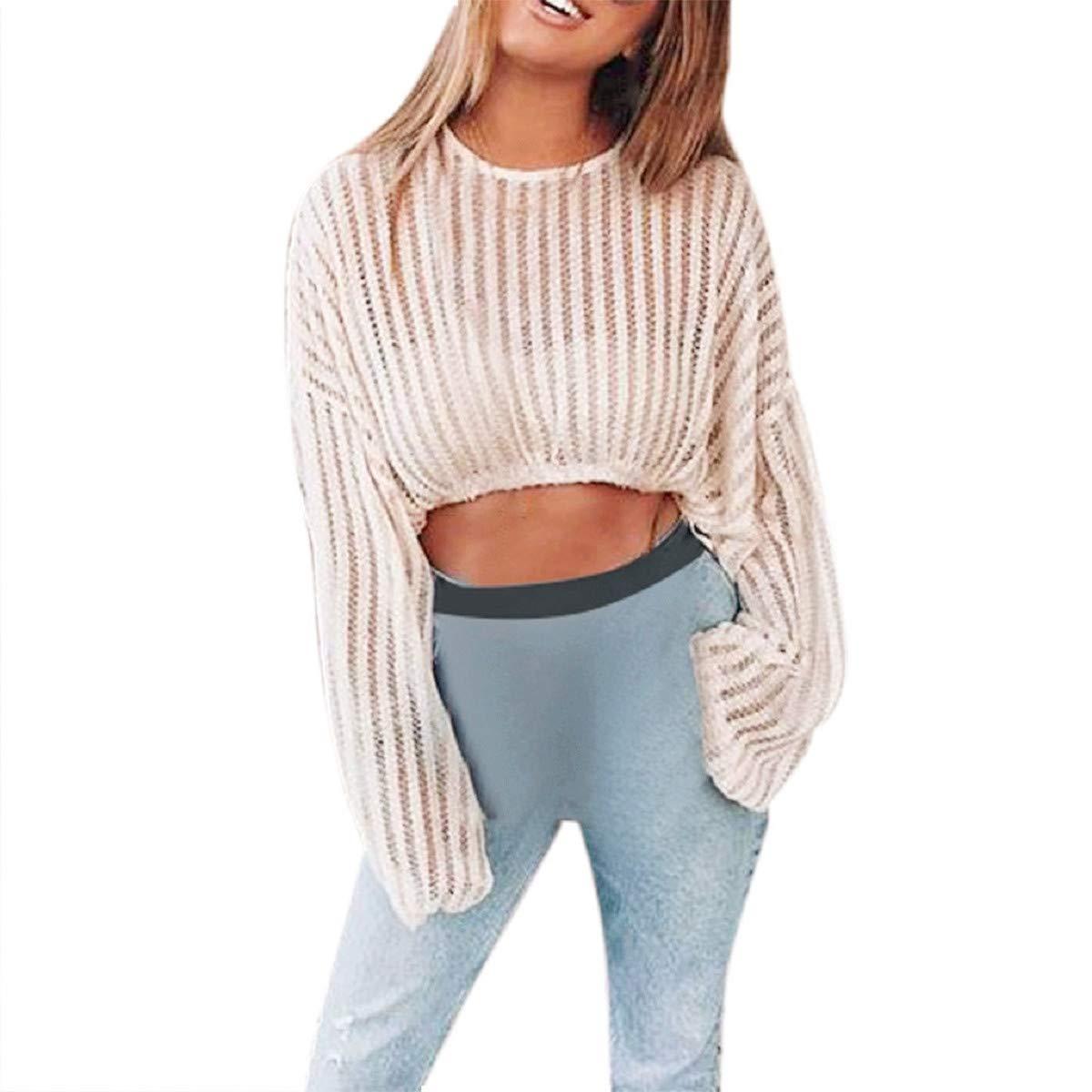 Amazon.com: Suéter para mujer Blusa blanca de impresión ...