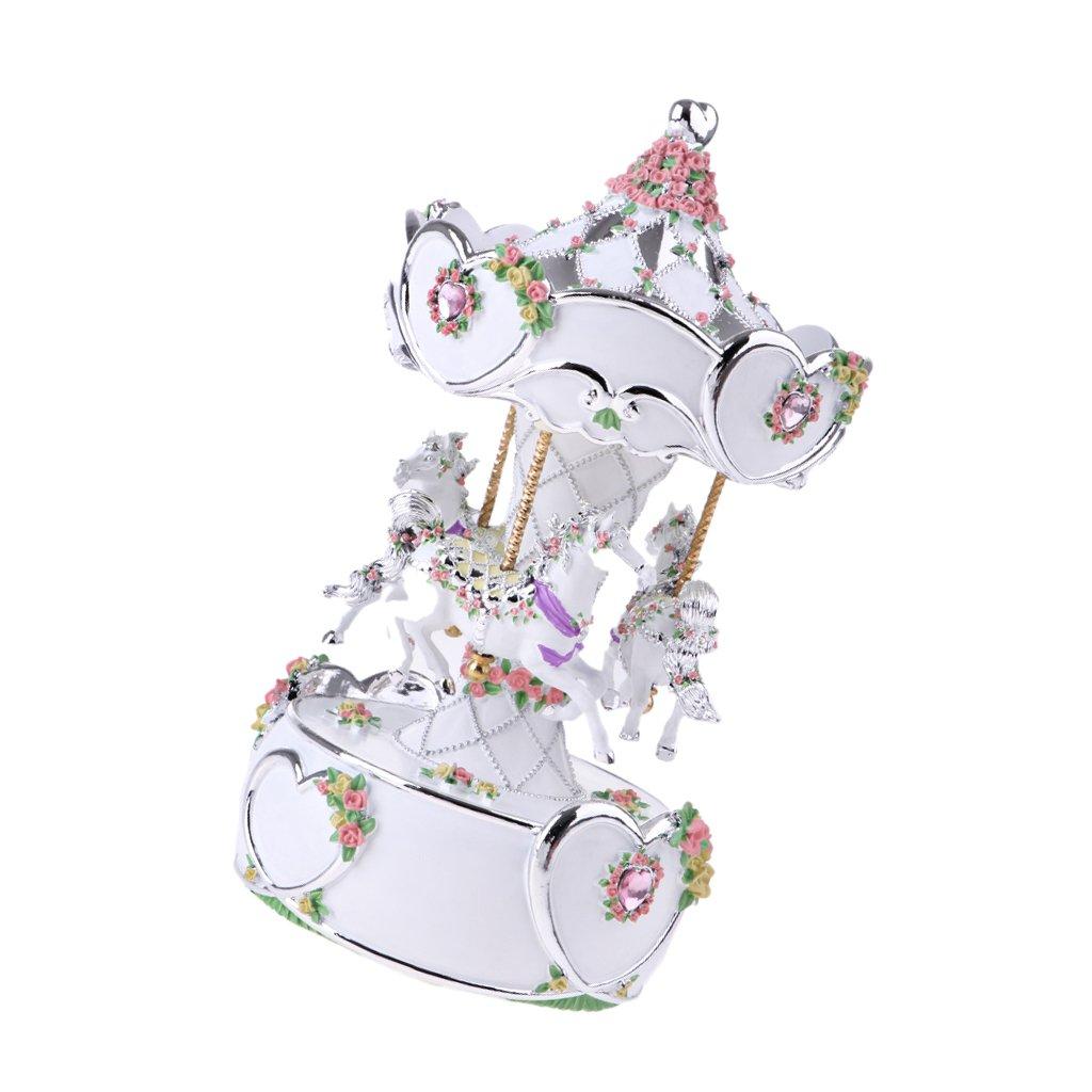 Baoblaze Merry-Go-Round Carousel Carillon Natale Compleanno Amici Regalo Giocattolo Per Bambini