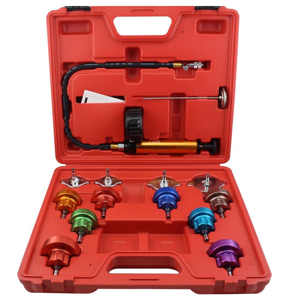 Ronben 14Pcs Cooling System Tester Radiator Pressure Test Gauge Set Garge Tool Kit,DHL Shipping