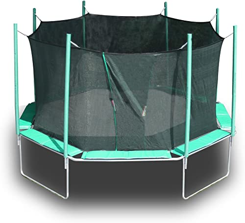 CO-Z GS Certified 12ft Trampoline with High Enclosure, Outer Springs, Ladder Reinforced Safety Pad, 330lb Capacity, Adult Jump with Kids