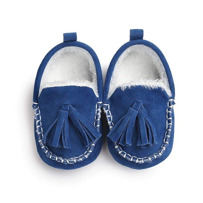 Morbuy Zapatos de Primeros Pasos Bebe Anti-Piel Recién Nacido Cuna Suela Niña Blanda Antideslizante Zapatos: Amazon.es: Ropa y accesorios