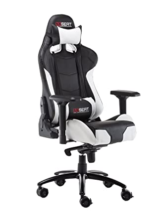 opseat master series pc gaming chair racing seat computer gaming desk office chair white