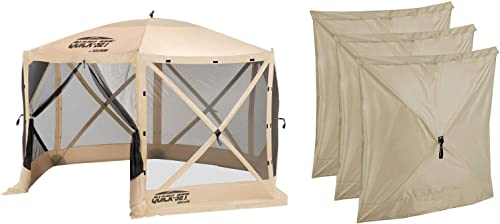 CLAM Quick Set Escape Portable Canopy Shelter Wind Sun Panels 3 Pack