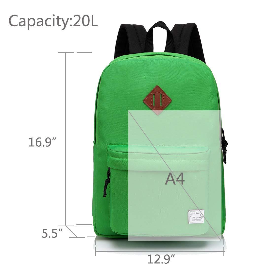 KIDS TEENS BACKPACK LIGHTWEIGHT SCHOOL BAG WATER RESISTANT BOTTLE SIDE POCKETS