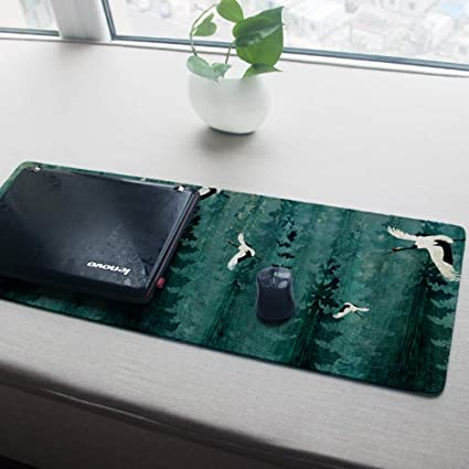 WENSHUO Alfombrilla De Ratón para Juegos Tapete De Mesa Tamaño Grande Espesar Estilo Chino De Negocios Antideslizante Adecuado para Pc Y Laptop, 900X400X3Mm: Amazon.es: Electrónica