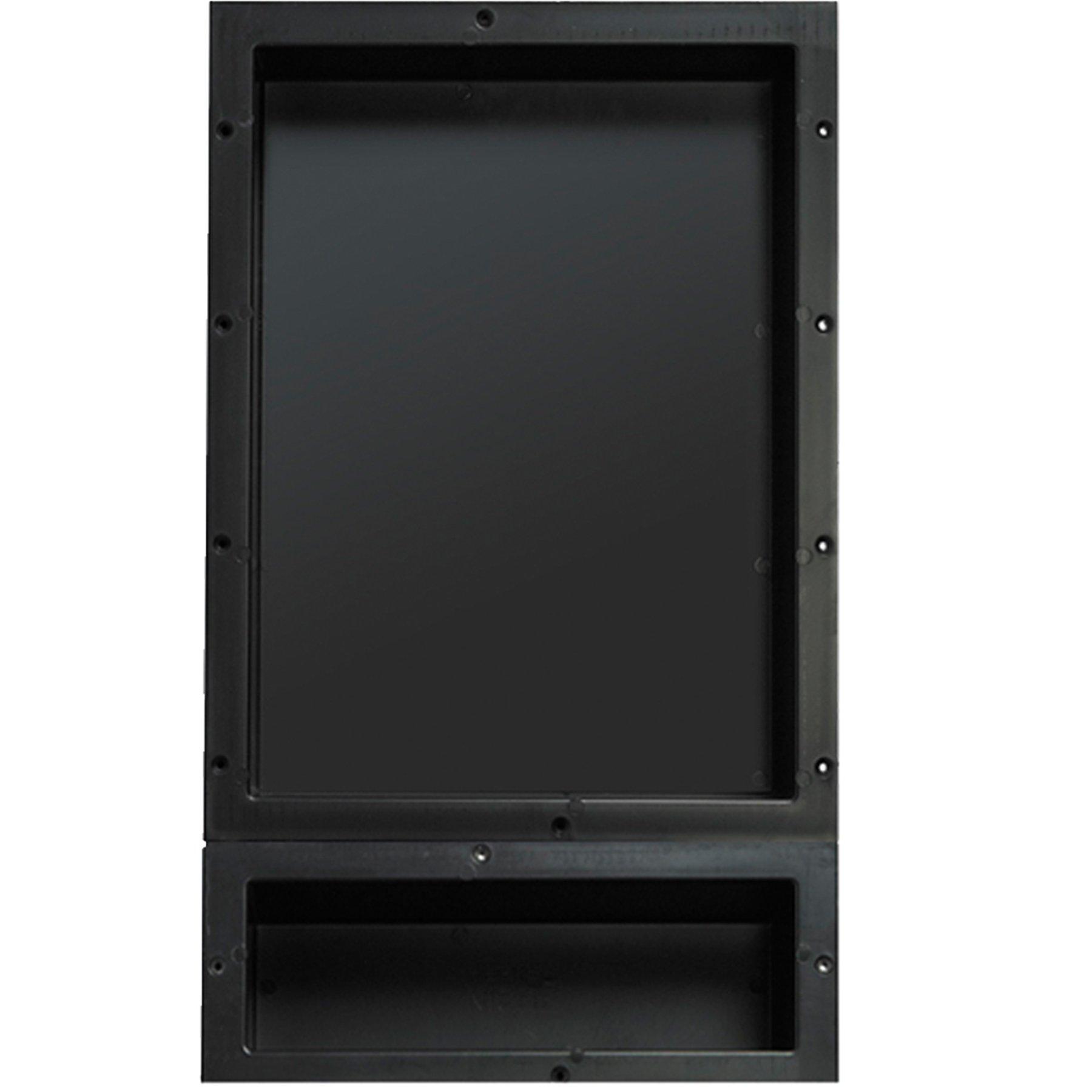 Tile Redi USA RND1620S-6 Niche Shower Niche, 16'' x 26'', Black