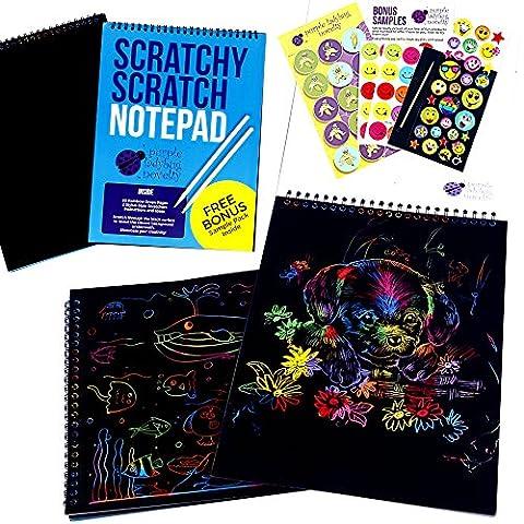 Scratch Paper Notepad by Purple Ladybug Novelty, 20 BIG 11