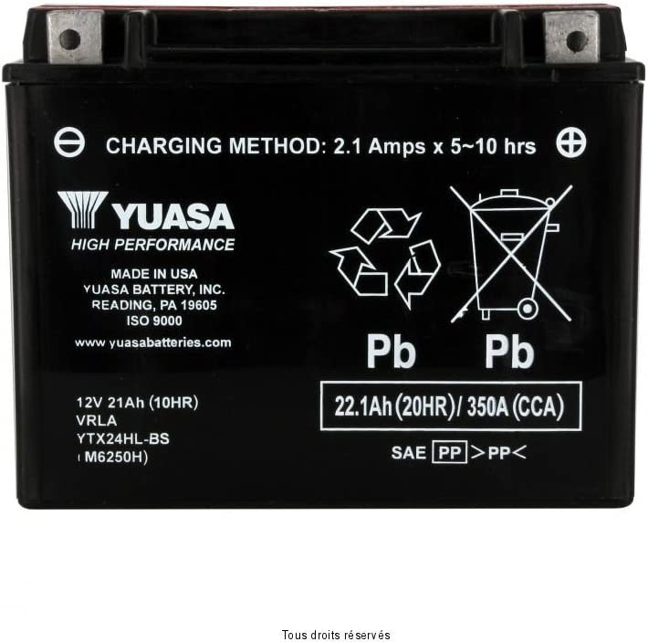 BATTERIE YUASA CAN-AM SPYDER 990 RT//RS 2010-2012 YTX24HL-BS