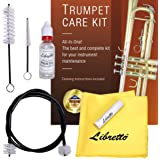 Libretto Trumpet (Cornet) ALL-INCLUSIVE Care Kit w/Instructions: Valve Oil+Slide Grease+Cleaning Cloth+Mouthpiece/Valve/Bore