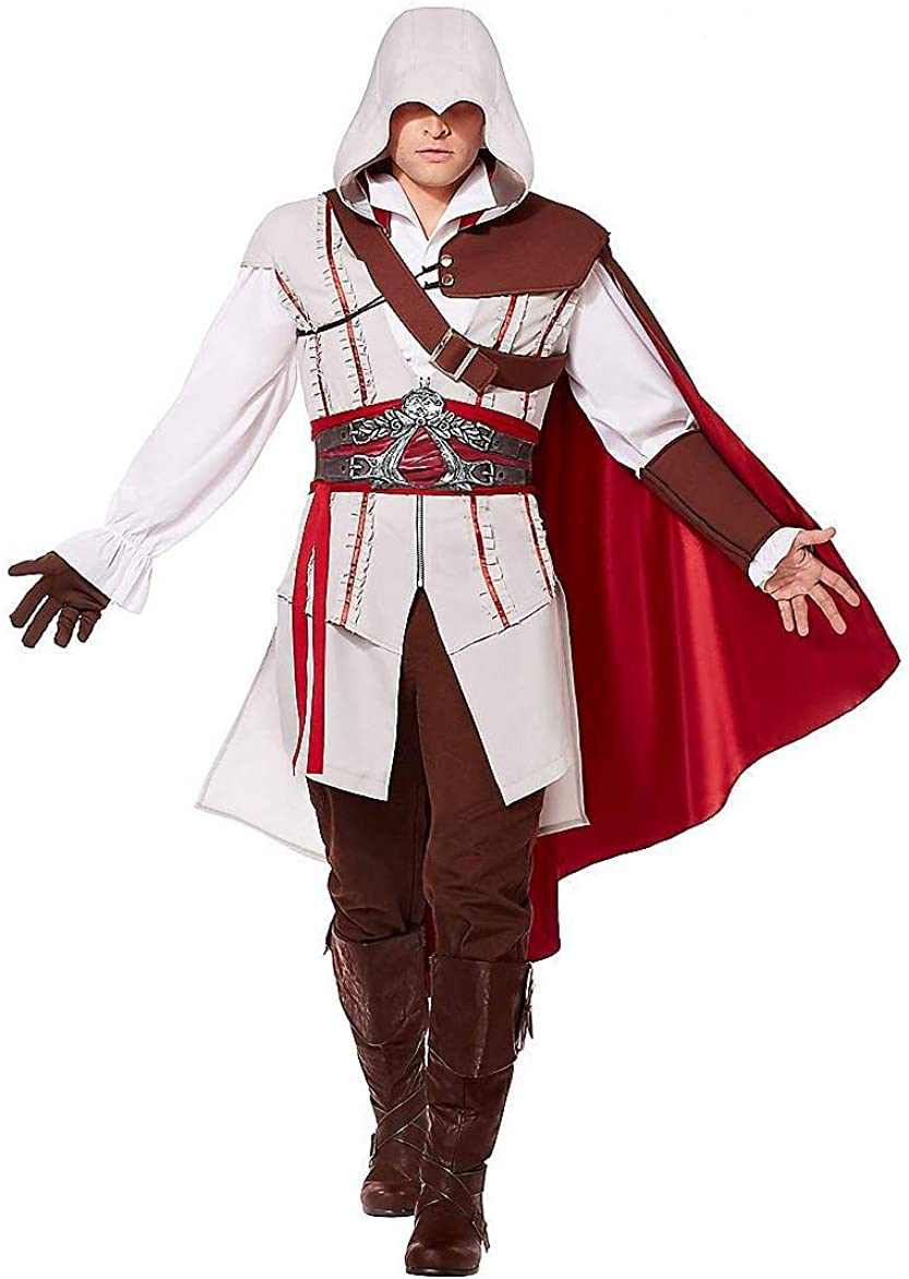 Amazon Com Spirit Halloween Adult Ezio Assassin S Creed Costume Officially Licensed Clothing