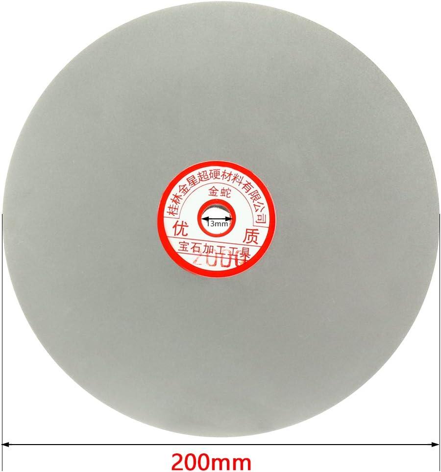 model: L9593IIIVII-7907MQ Aexit Disco de lija de 200 mm de 8 pulgadas de grano 2000 con recubrimiento de diamante y disco de vuelta plana.