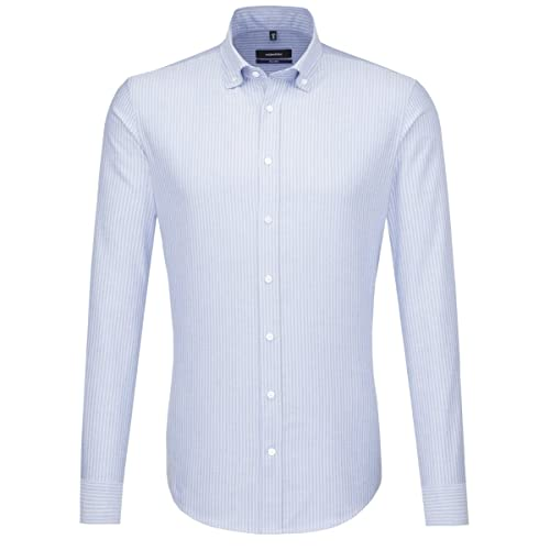 Seidensticker Herren Business Hemd Tailored Langarm Button-Down-Kragen Bügelleicht