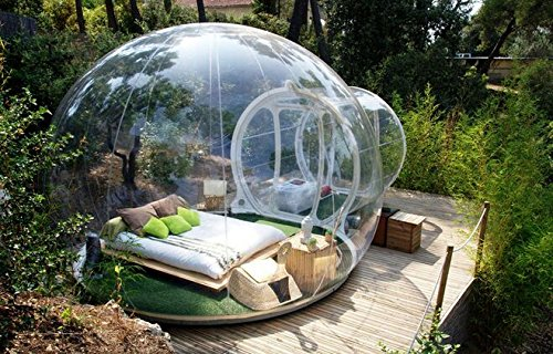 Greenhouse Dome (Outdoor Single Tunnel Inflatable Bubble Tent Family Camping Backyard Transparent)