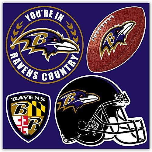 (NFL Baltimore Ravens 4-Piece Magnet Set,)