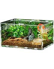 Funsquare Terrarium Acrylique - Boîte D'élevage De Reptiles, Acrylic Reptile Feeding Box Transparent pour Les Araignées pour Animaux De Compagnie Scorpions Grenouilles Cornues