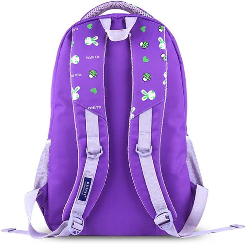 ZJ-School bag Backpack-Rabbit School Bag Primary School Grade 3-6 Cute Girl School Bag 6-12 Year Old Children Backpack /&/& Color : A, Size : 30X13X45CM