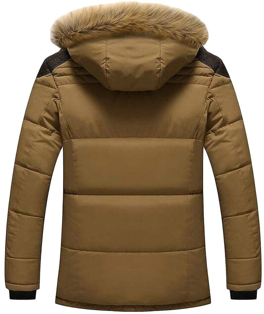 JuJuTa Mens Fleece Lined Detachable Hooded Overcoats Thick Outdoor Winter Parka Jackets