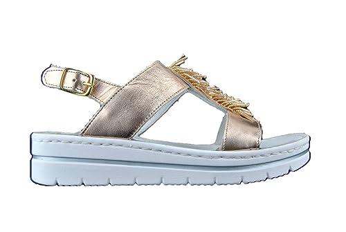 MERCANTE DI FIORI sandali gioiello donna in pelle