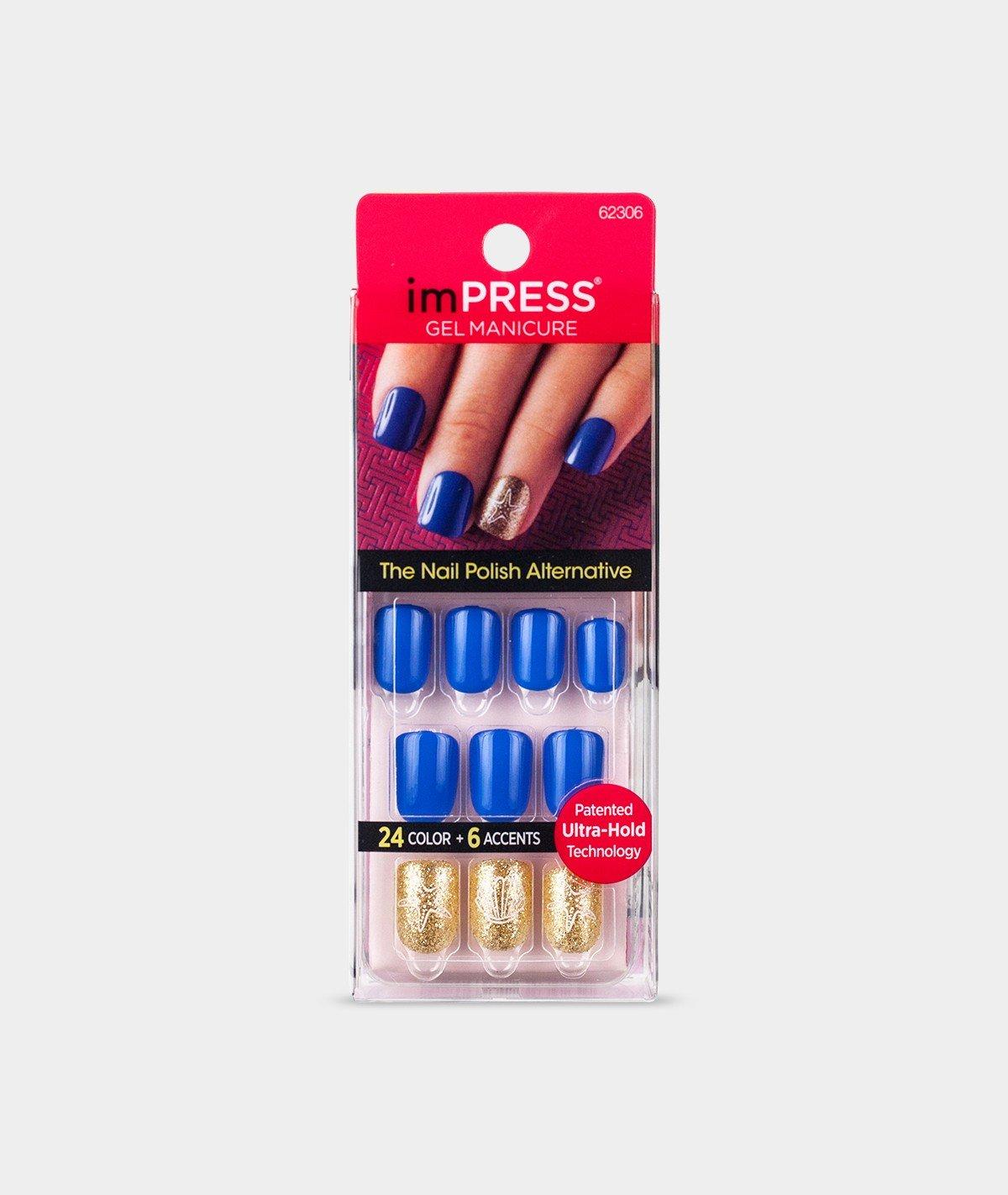 Amazon.com : KISS imPRESS Nails Press-On Manicure Nails (BIPA050 ...
