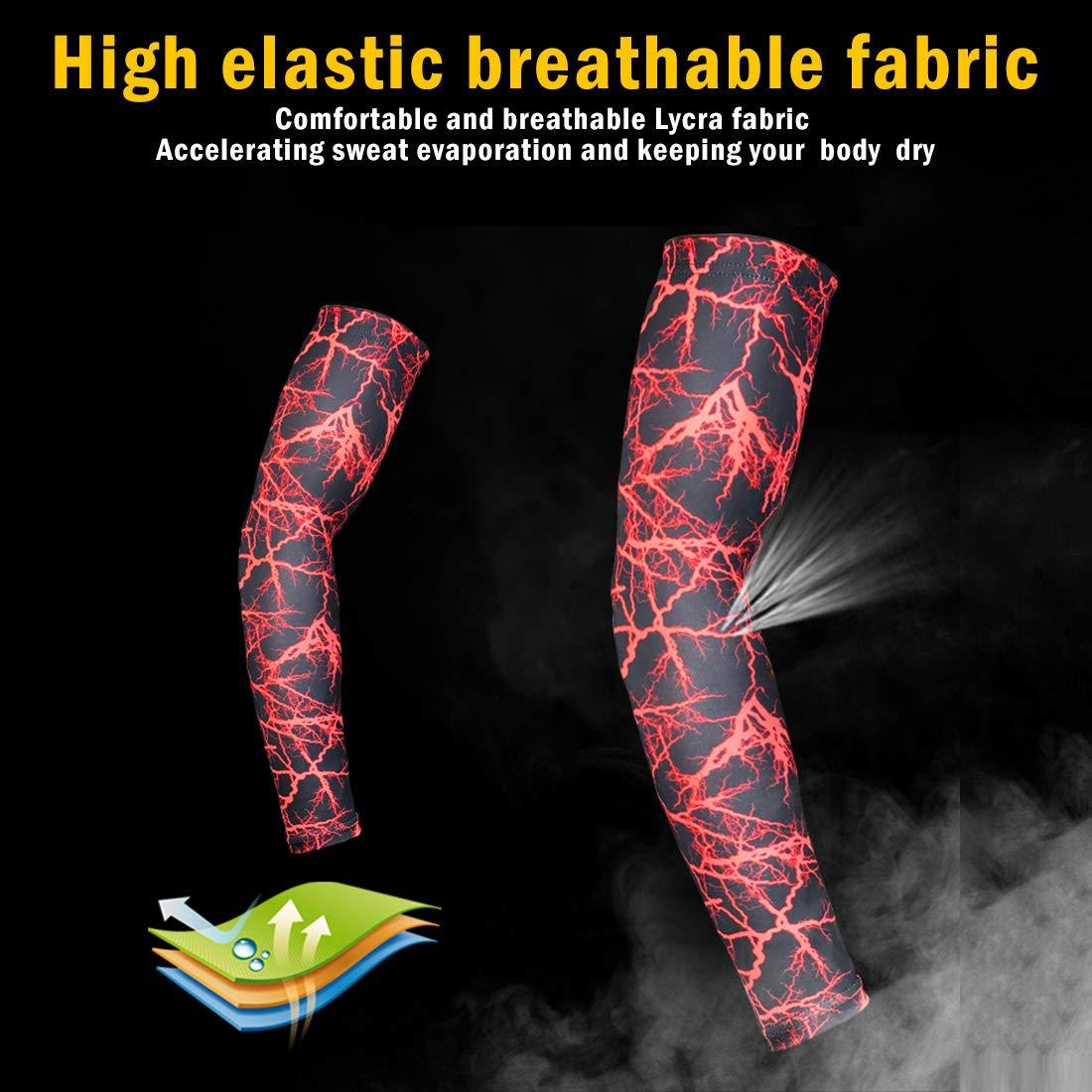 Dihope, 1*Manche de Bras Manchon de Compression Cover Anti-UV Protection pour Sports Homme Unisexe Aduilte Cyclisme Fitness Alpinisme