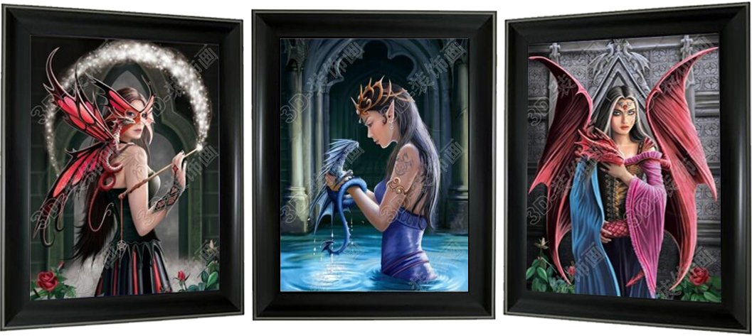 Lee's Collection Fairies 3D Picture and Frame, Multicolor
