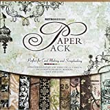 27 Sheets Vintage Paper Pad 12' x 12' Classic Origami Scrapbooking Wrapping Book Craft DIY Card making Damask...