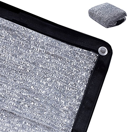 Rovey 70 6.5ft x 6ft Knitted Aluminet Shade Cloth Panels Sun Block Reflective
