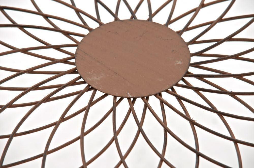 Blanco CLP Mesa de Jard/ín Zarina Mesa de Exterior en Hierro Forjado I Mesa Cuadrada de Terraza Estilo R/ústico I Color