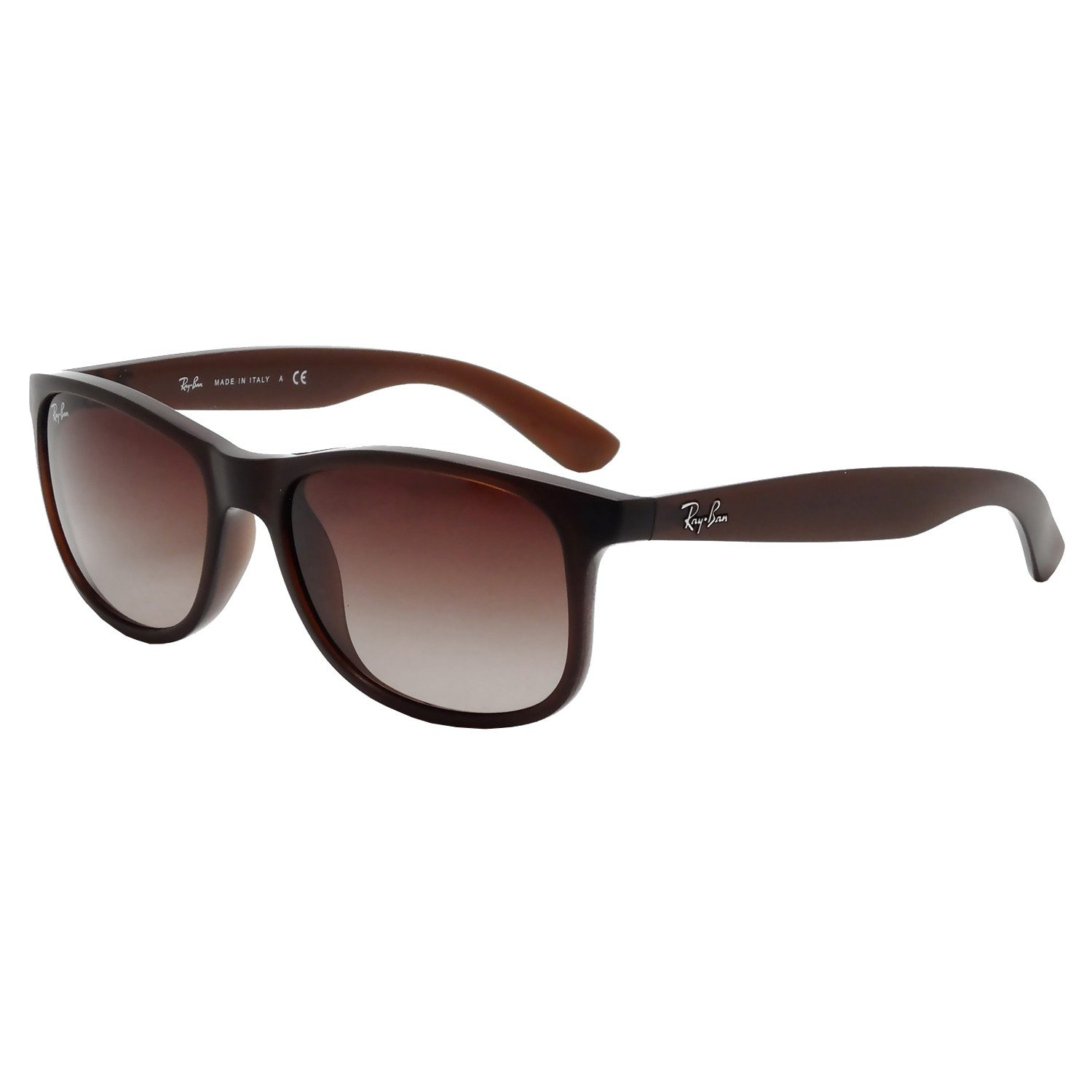bb6df20e45 Amazon.com  Ray-Ban s Authentic Andy Men s Sunglasses RB4202 Shinny Brown  Frame   Brown Gradient Lenses (6073 13) RB4202 6073 13 55mm  Clothing