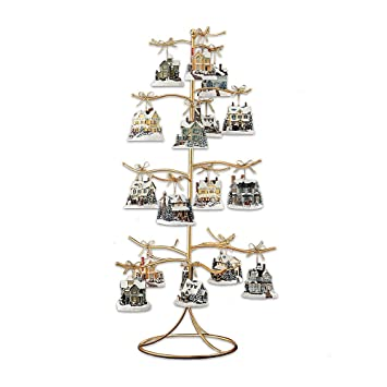 Amazon.com: Gold Wire Ornament Tree Display by The Bradford ...