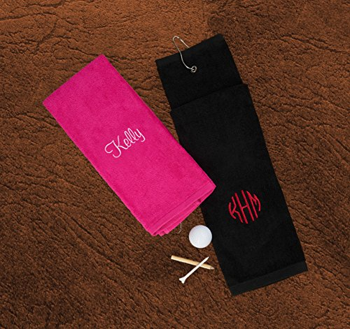 American Stationery Personalized Golf Towel with Embroidered Name - 3978