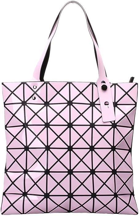 Amazon.com  Japanese Women BAO BAO Bag Geometry Style Luxury Brand Ladies  Shoulder Bags Top Quality PU Leather Baobao Casual Handbag Totes Pink   Clothing 6d8c83c2efd22