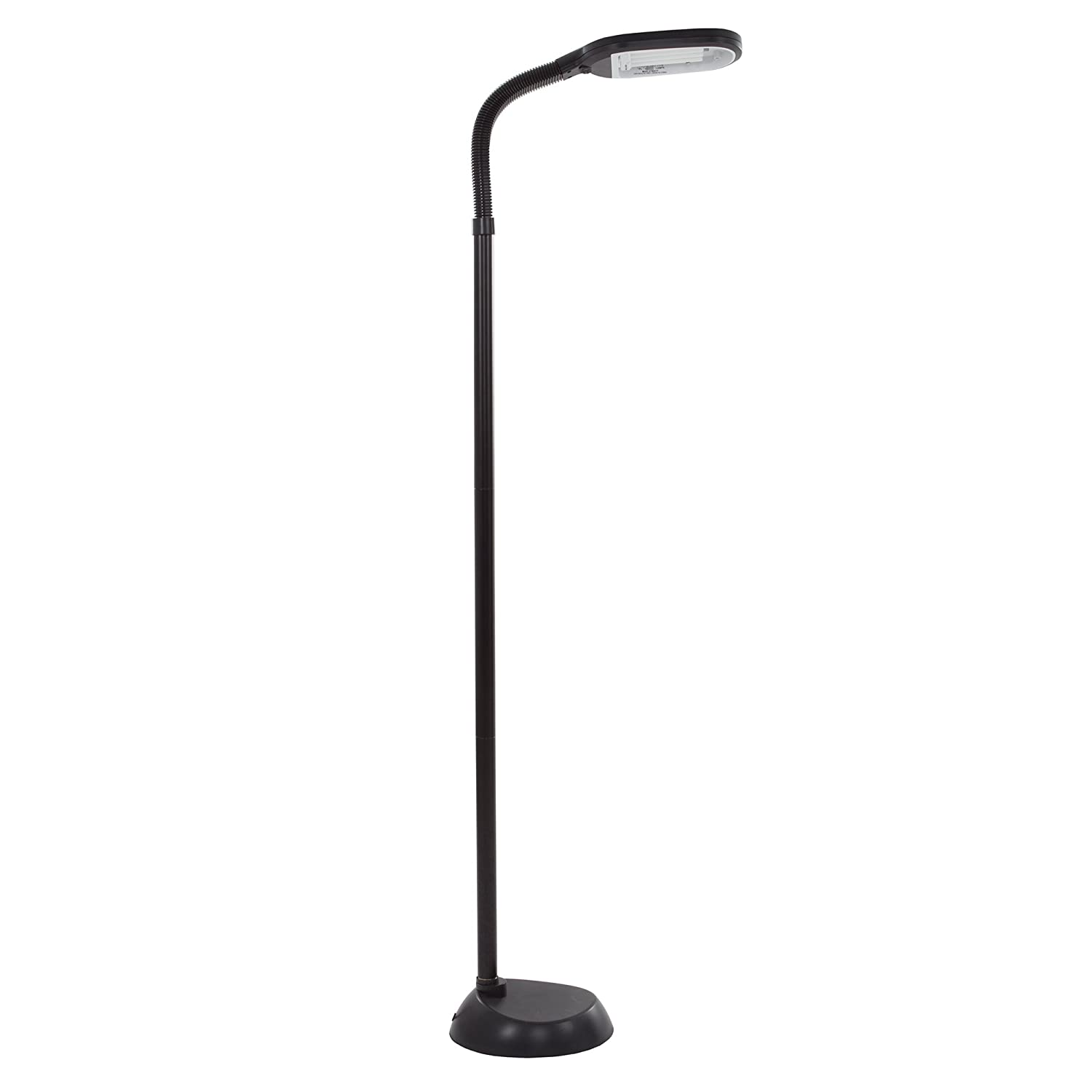 Best floor reading lamps for seniors - Natural Full Spectrum Sunlight Therapy Reading And Crafting Floor Lamp By Lavish Home Black Adjustable Gooseneck