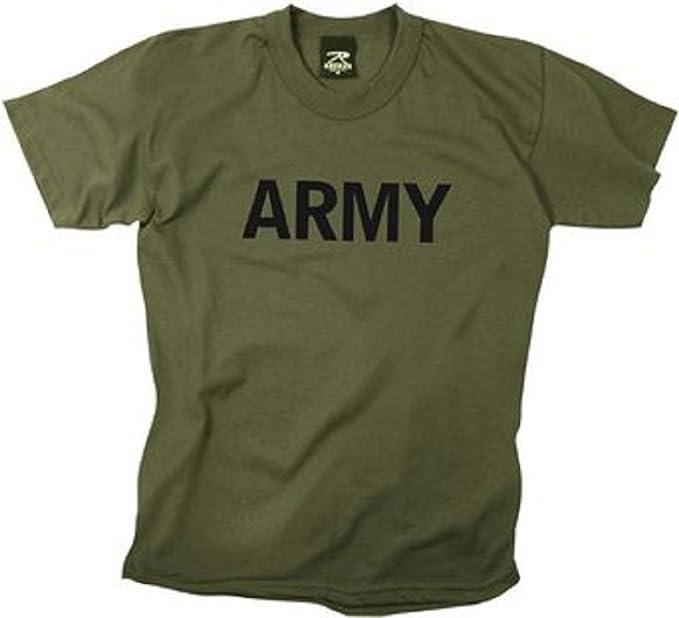Amazon.com  Kids Army T-Shirts Olive Drab Army Logo Shirt XLRG ... 966c7b91d6d