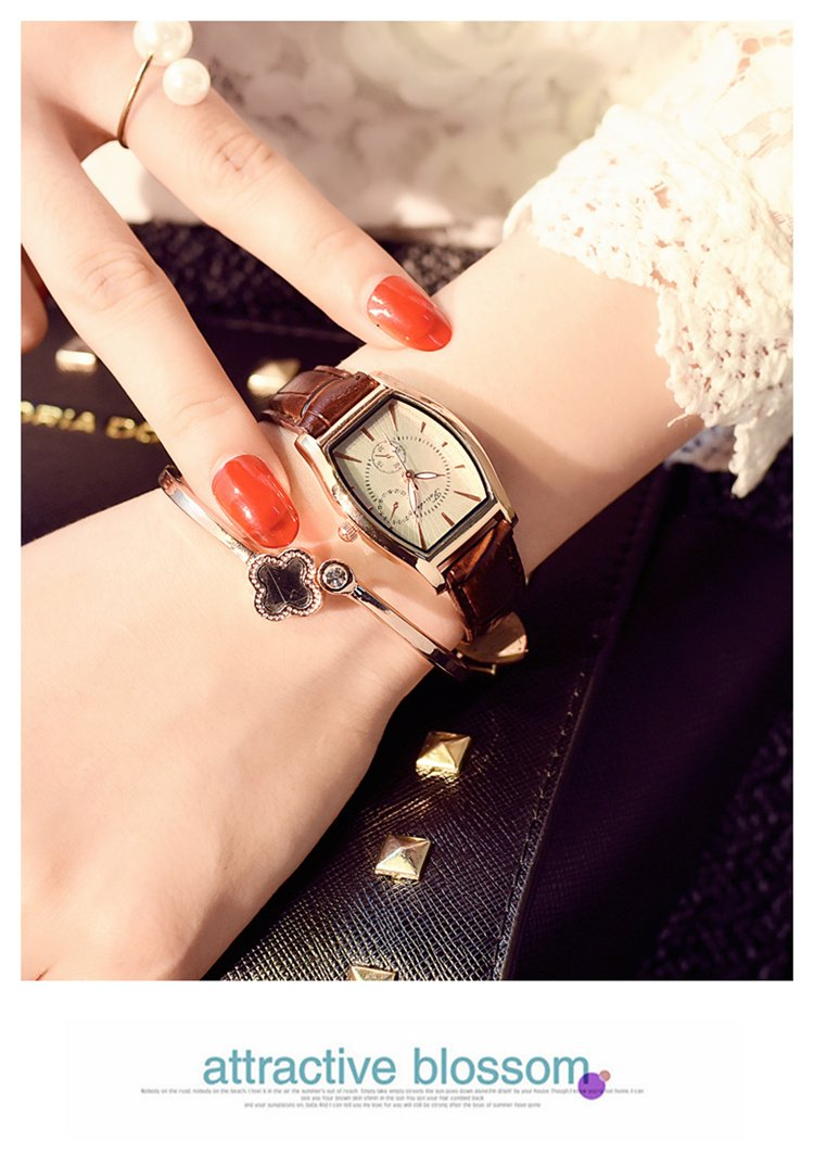 Generic Ms._ watch es_ students simple _classic_English_style_square_ retro women girl _jacket_with_ stylish _casual_women's_ quartz watch