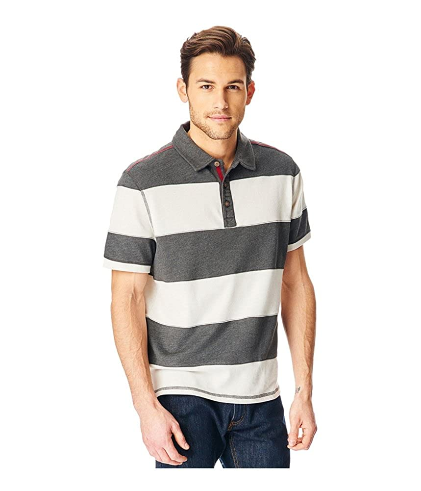 Gh Bass Co Mens Rugby Striped Rugby Polo Shirt At Amazon Mens