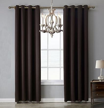 yiyida Chocolate Marrn Dormitorio trmica aislante cortinas opacas