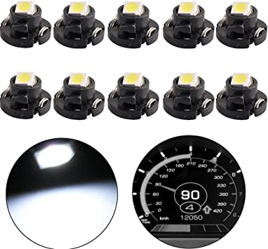 20x Super Amber T5//T4.7 Neo Wedge 3SMD For Car A//C Climate Lamps LED Light Bulb