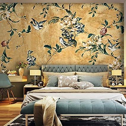Lzhenjiang Pegatinas de pared La Pintura De Flores Y Pájaros ...