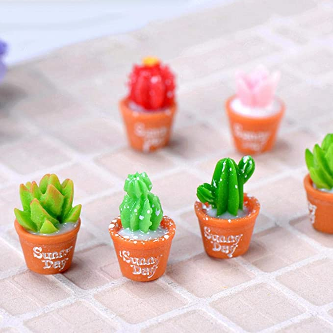 Cute Resin Cactus Ornament Furnishings Decorative Sculpture Collectable Gift