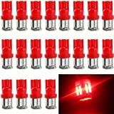 EverBright 20-Pack Red T10 / 194 / 168 / 921 W5W 7014 10-SMD LED Interior Lights Bulb For Car Replacement Lights Trunk / License Plate Side Marker Light