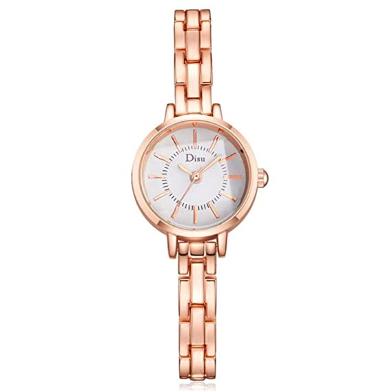 Amazon.com : naivety Watch Women Luxury Rose Gold Plated Womens Elegant Rhinestone Bracelet Quartz Watch Fashion Reloj Mujer Pulsera(D, ...
