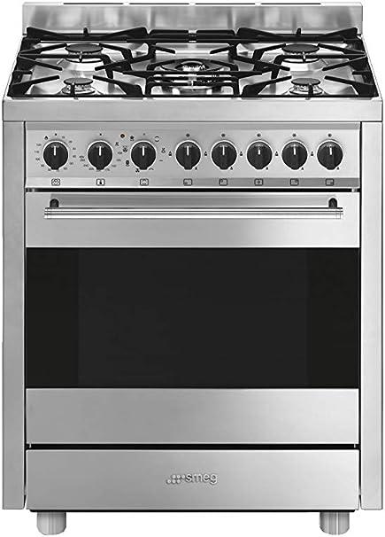 Smeg B71gmxi9 Cucina Piano Cottura Acciaio Inossidabile Gas A Amazon It Grandi Elettrodomestici