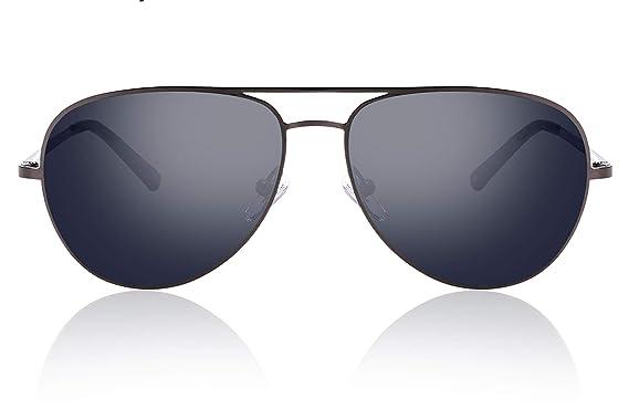 fawova HD Nylon Gafas Sol Aviador Hombre Sin Polarizadas, Gafas Aviador Hombre con Lente de Nylon, UV400, Cat.3 57mm
