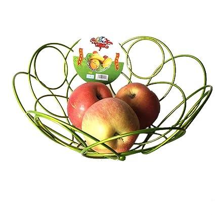 Gossip Boy elegante flor acero inoxidable Frutero cesta para decoraciones de mesa, Premier Houseware –