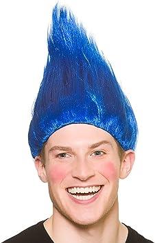 Peluca Troll Unisex para Adultos - Accesorio azul de disfraces ...